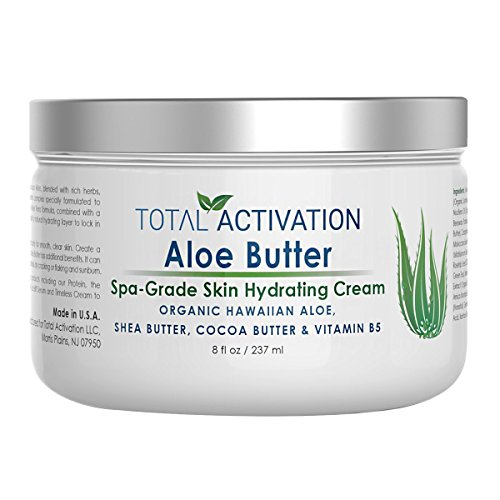 Hawaiian Aloe Vera Moisturizing Skin Cream - Organic Face & Body Moisturizer For Day And Night - Hydrating, Healing Skin Care Butter Lotion For Dry, Sensitive, Aging Skin, Eczema For Men & Women