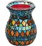 Biedermann & Sons Stain Glass Mosaic Tealight Oil Warmer