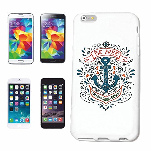 "cas de téléphone iPhone 7+ Plus ""BE SAILOR GRATUIT AVEC ANCRE TATTOO SAILOR CAPTAIN Seefahrer"" Hard Case Cover Téléphone Covers Smart Cover pour Apple iPhone en blanc"