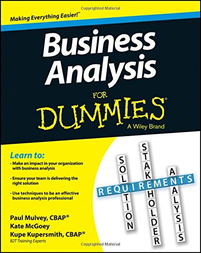 Amazon.Com: Business Analysis For Dummies (8601400639207): Kupe