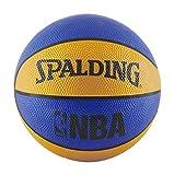Spalding NBA Mini Rubber Outdoor Basketball, Blue/Orange
