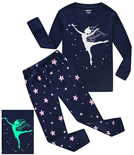 Dolphin&Fish Girls Pajamas Girl Dance Glow in The Dark Kids Pjs Cotton Toddler Clothes Size 2T for $<!--$16.99-->