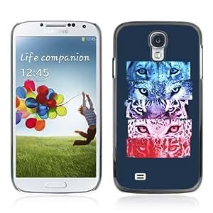 YOYOSHOP [Cool Tiger Jaguar Cat Eyes] Samsung Galaxy S4 Case