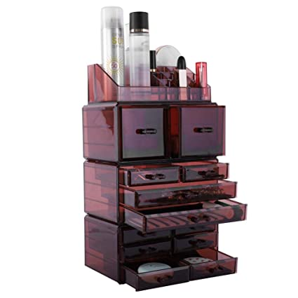 0ee63eca9840 Amazon.com: Cosmetic Makeup And Jewelry Storage Case Display Set ...