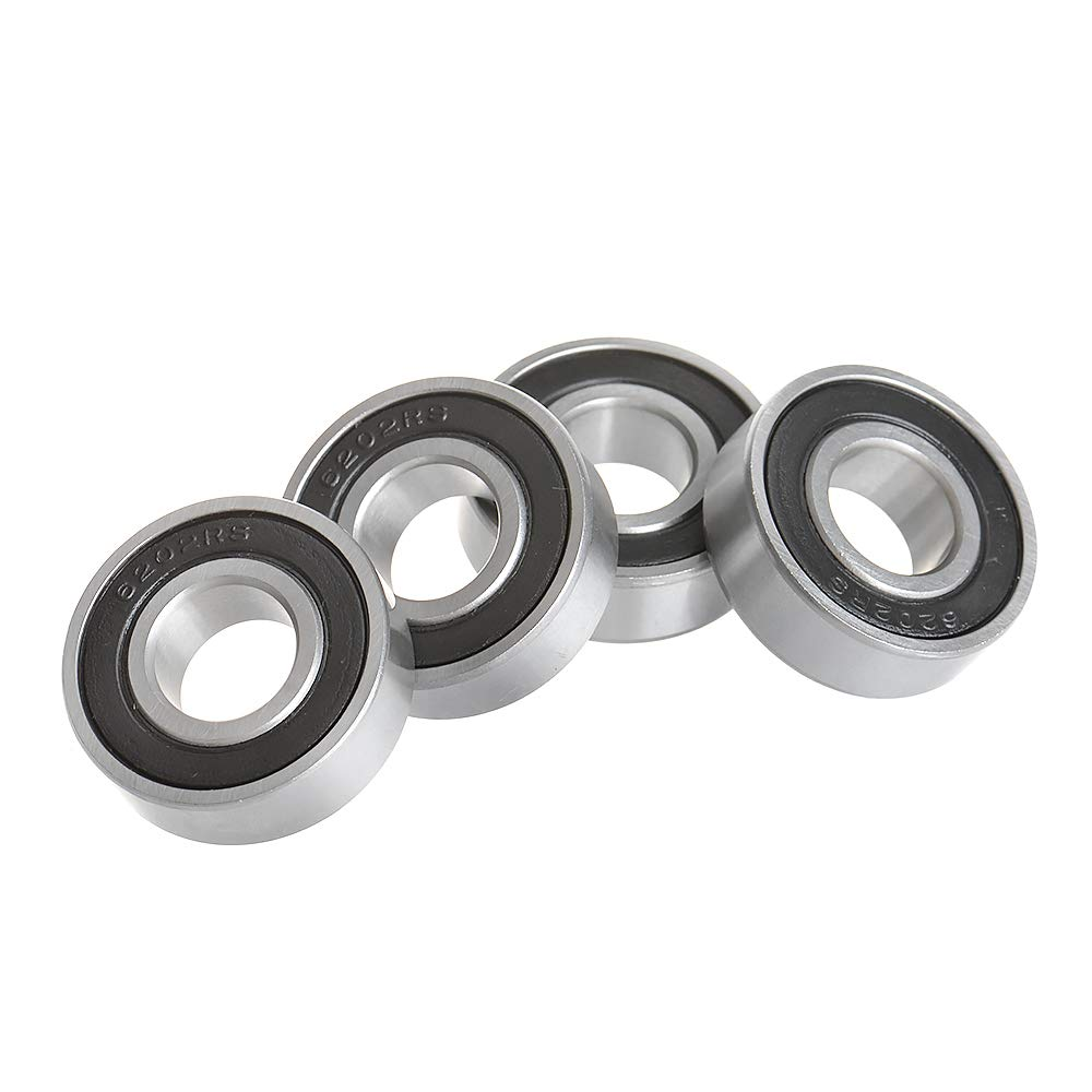 "Radial Ball Bearing 6202-2RS-10 With 2 Rubber Seals /& 5//8/"" Bore 15x35x11mm"