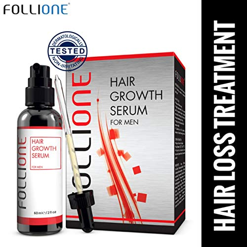 Hair Growth Serum for Men | Dermatologically Tested Hair Loss & Hair Thinning Treatment | One month supply