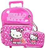 Hello Kitty Rolling backpack Lunch bag set - Ribbon Pink