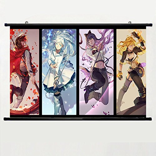 Eyor Home Decor Art Cosplay Diy Prints Poster with Rwby Season Wall Scroll Fabric