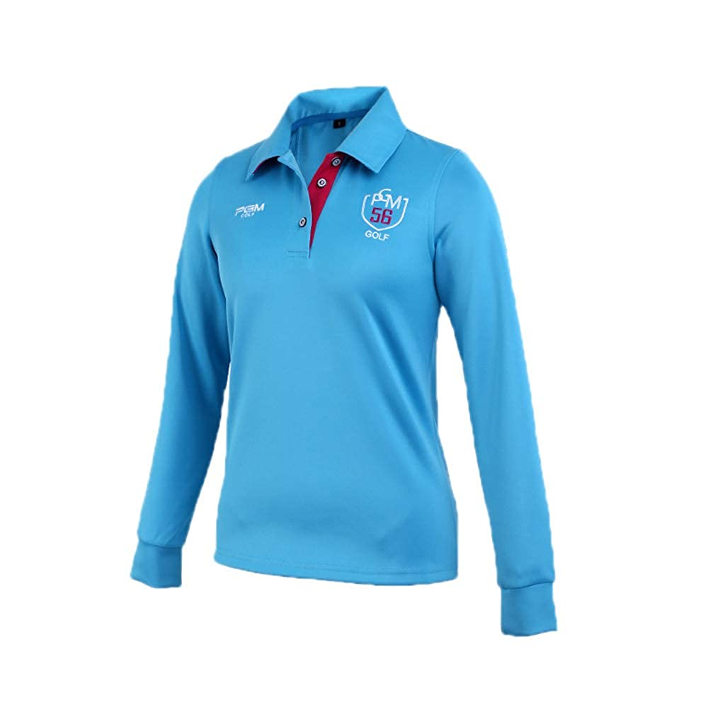 Womens/Ladies Long Sleeve Plain Sports Golf Polo Shirt,Autumn and ...