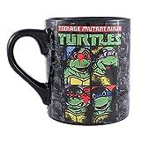 marvel grid mug - Silver Buffalo NT3532 Nickelodeon Teenage Mutant Ninja Turtles Splatter Paint Character Grid Ceramic Mug, 14-Ounces