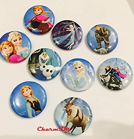 Disney Frozen Pins Set of 9 Queen Elsa Princess Anna Olaf and More Assorted Frozen Kids Party Favors (Generic)by (Disney Pin Queen)