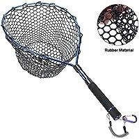 Fly Fishing Net Aluminum Landing Net with Soft Rubber...