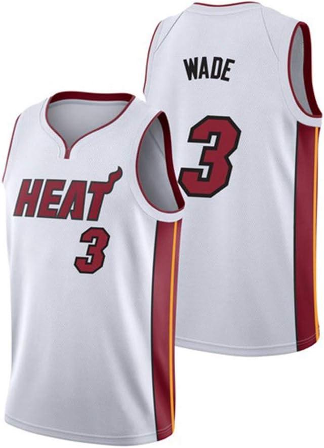 JINHAO Camiseta de Baloncesto para Hombre NBA Miami Heat # 3 ...