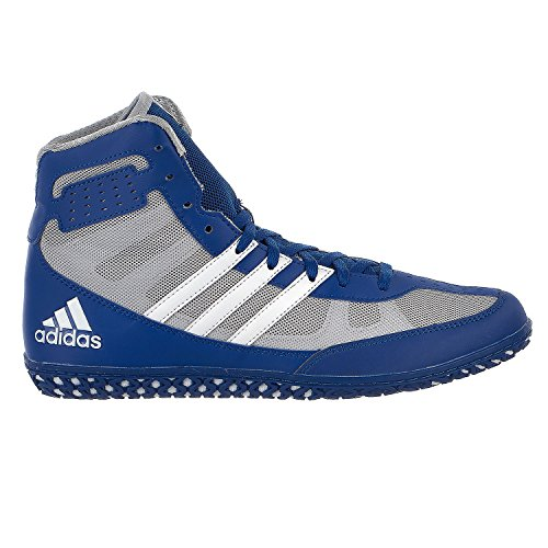 adidas Mat Wizard Mens Wrestling Shoes, Royal/White/Grey, Size 9 (Shoes Wrestling 9 Size)