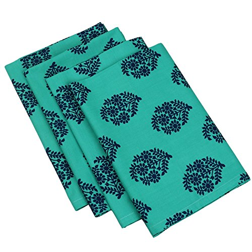 ShalinIndia Cotton Printed Table Linens Napkins Set of 24, 24 x 24 Inches 200TC Indian Home Décor by ShalinIndia