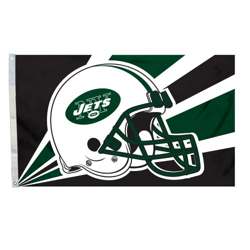 NFL New York Jets 3-by-5 Foot Helmet Flag