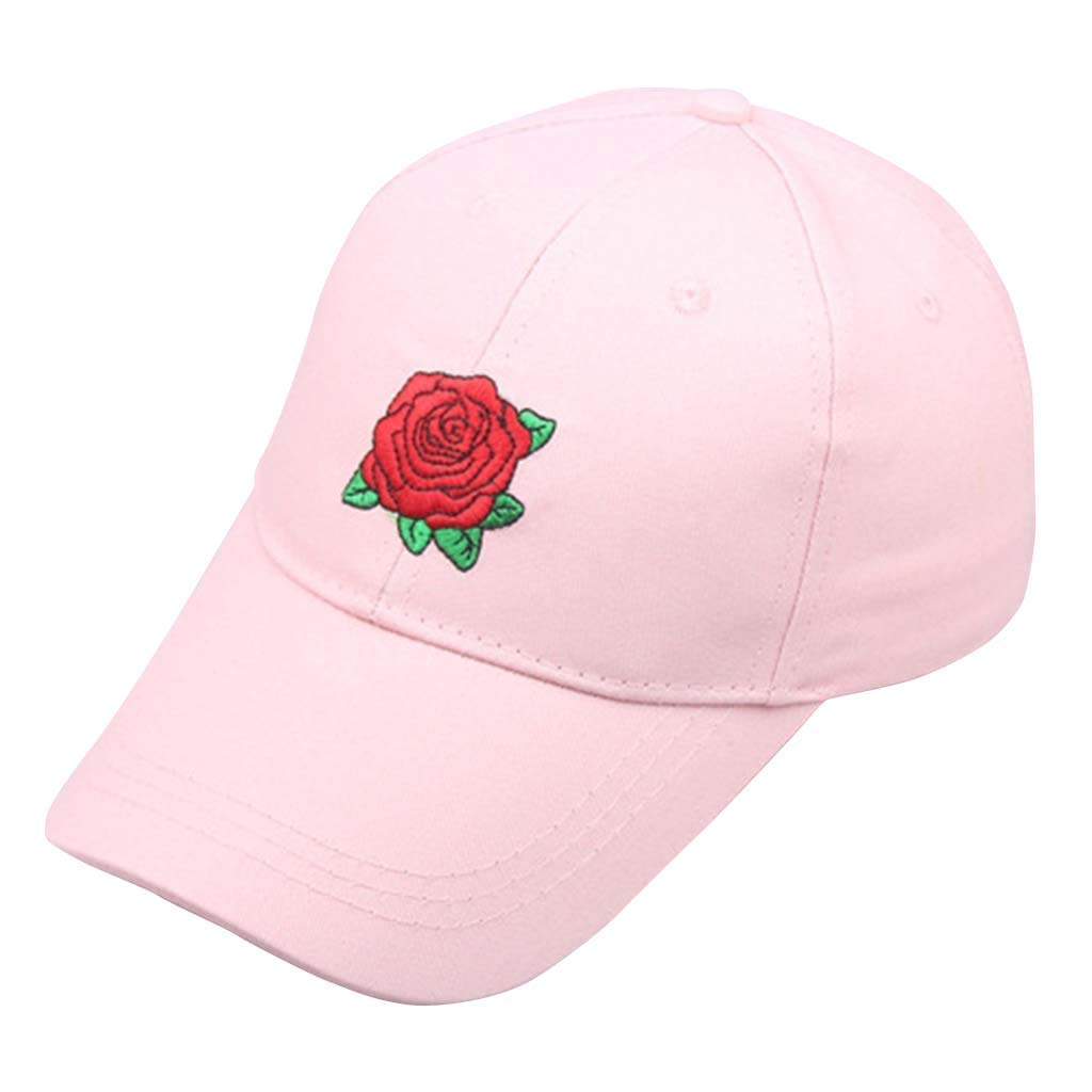 Casual Gorra con Bordado de Rosas, Beisbol Hat de Sombrilla de ...