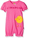 John Deere Baby Girls Romper, Dark Pink, 6/9 Month