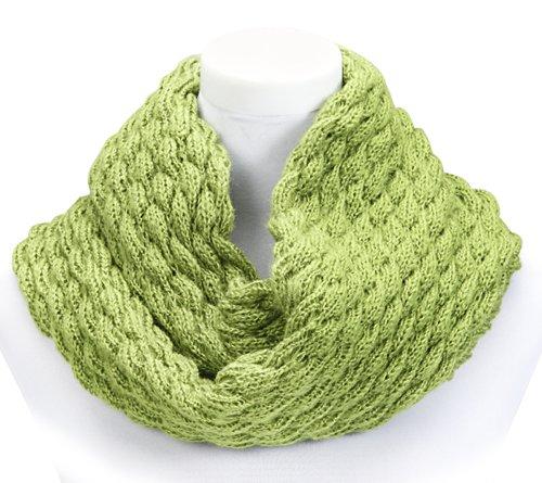 Wahlfeld - Femme Homme Hiver boucle écharpe, Snood, plaine, écharpe circulaire, écharpe tricotée, environ 80 x 20 cm, 160 cm de porté - env. 80 x 20 cm (porté env. 160 cm), vert