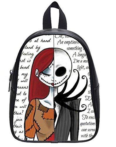 Soft PU Backpack School Bag Travel Bag Jack Skellington Pattern- Large