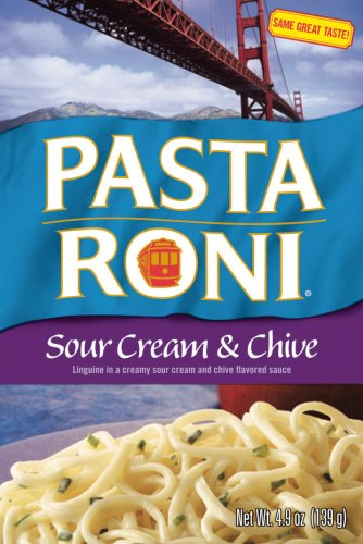 Pasta Roni Sour Cream & Chive Linguine Mix, 4.9-Ounce Boxes (Pack of 12)