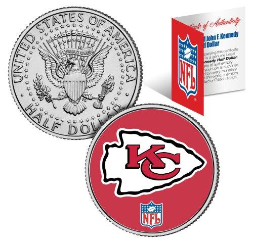 KANSAS CITY CHIEFS NFL JFK Kennedy Half Dollar US Coin *Officially Licensed*