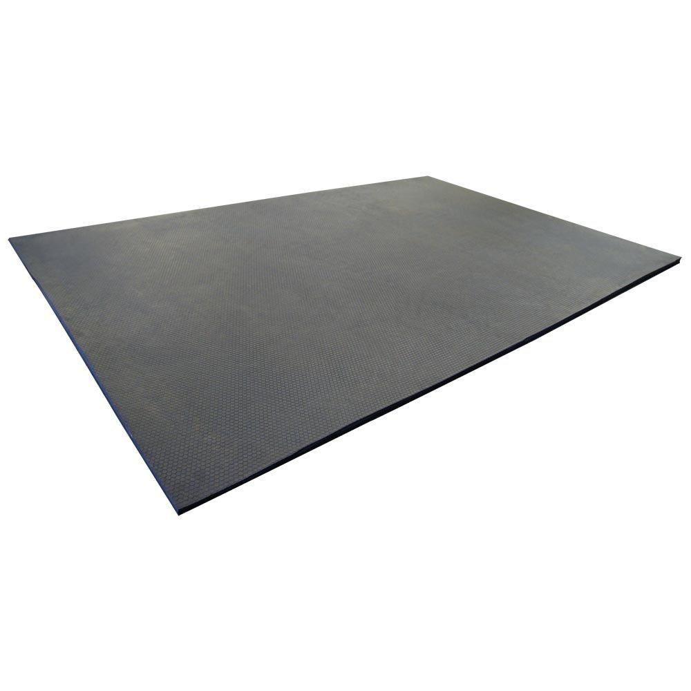 Rubber-Cal Maxx Tuff Heavy Duty Protective Mat, Black, 12mm x 2 x 3-Feet