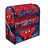 Marvel Spiderman Children's Toy Storage Unit Box Organiser Wooden Multi Tray - Kids Bedroom Playroom Furniture
