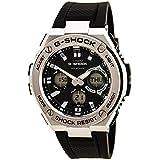 Casio GSTS110-1A Men's G-Shock World Time Ana-Digi Black Dial Black Resin Strap Dive Watch