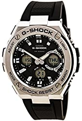 Casio G-Shock G-Steel Smoke Dial SS Resin Chrono Quartz Men's Watch GSTS110-1A