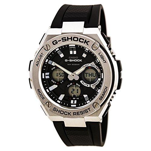 Casio Men's G Shock Stainless Steel Quartz Watch with Resin Strap, Black, 26.8 (Model: GST-S110-1ACR) (Casio Efa 119bk 1avdr Erkek Kol Saati)