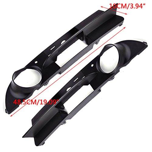 For 525xi 06-07 Passenger Side Bumper Insert Black Plastic