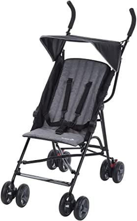Safety 1st Flaps Silla Paseo ligera pesa solo 5,5 kg, plegable y compacta, reclinable 2 posiciónes, Cochecito de viaje, con capota solar, color black chic