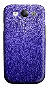 Samsung Galaxy S3 I9300 Cases & Covers - Dark Blue Traces Background PC Custom Soft Case Cover Protector for Samsung Galaxy S3 I9300