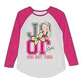 Nickelodeon Girls JoJo Siwa Long Sleeve Raglan Shirt (Large 10-12)