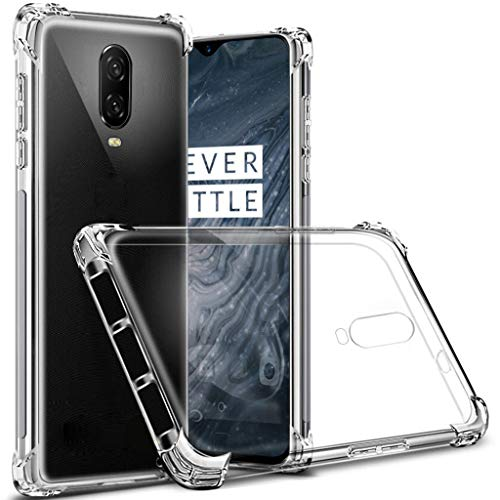 OnePlus 6T case, Sucnakp TPU Shock Absorption Technology Raised Bezels Protective Case Cover OnePlus 6T Smartphone (TPU Clear)