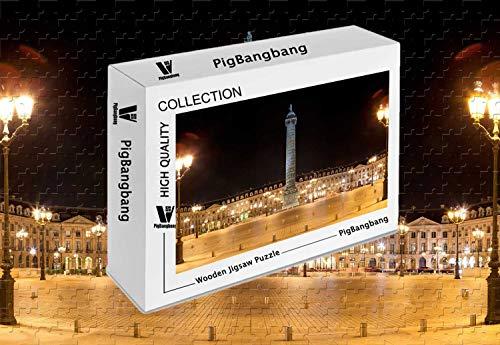 (PigBangbang,Photomosaic Basswood in a Box - Trajans Column - 300 Piece Jigsaw Puzzle (20.6 X 15.1''))