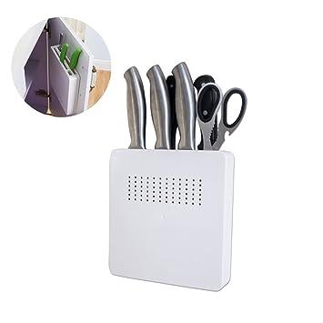 HanDingSM - Soporte magnético profesional de acero inoxidable para cuchillos y utensilios de cocina, montaje en pared: Amazon.es: Hogar
