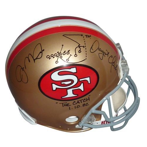 Joe Montana & Dwight Clark Autographed San Francisco 49ers Proline Helmet w/