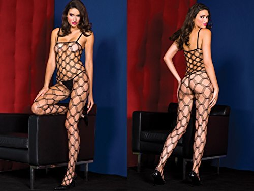 Music Legs Spandex multi diamond net bodystocking black One Size 100% nylon As Shown ONESIZE