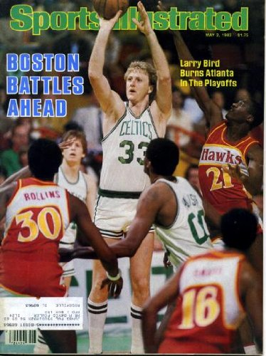 1983 New York Islanders - Sports Illustrated May 2 1983 Larry Bird/Boston Celtics on Cover, Slew O'Gold Wins New York's Wood Memorial, Bob Bourne/New York Islanders, Kentucky Derby Sketchbook, Edwin Rosario/Boxing, Joan Benoit/Boston Marathon