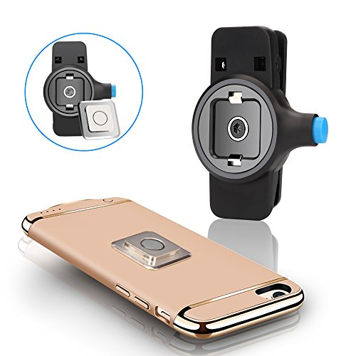 Newest Cell Phone Belt Clip Universal Portable holder [Easy On/Off & Magnetic Mount] with No Case for iPhone 7/7 plus/6/6s plus/5/5s/5c/se, Samsung Galaxy S8 S7 S6 or Any Phone