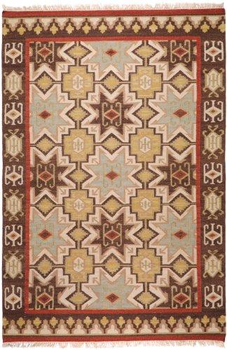 (Surya Jewel Tone II JTII-2034 Transitional Hand Woven 100% Hard Twist Wool Bone 3'6