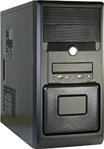 Inter-Tech JY-160 - Caja de ordenador (Micro-Tower, PC, uATX, 80, 92 mm, 18 cm, 43,5 cm) Negro