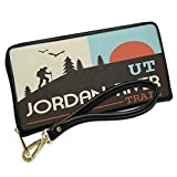 Wallet Clutch US Hiking Trails Jordan River Trail - Utah with Removable Wristlet Strap Neonblond