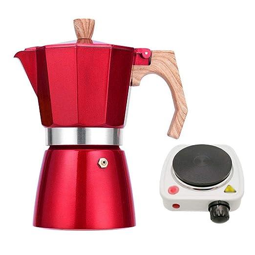 Kerryshop Cafetera Moka Pot, Hecho a Mano Cafetera, pequeños ...