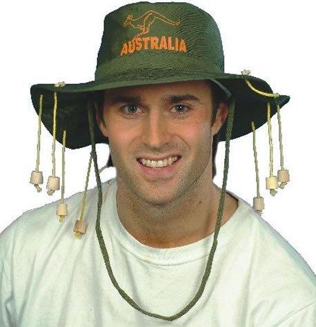 4 X Australian Hat With Corks for Fancy Dress / Party Accessory (Australian Outback Kostüm)