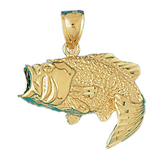 14k Gold Bass - 2