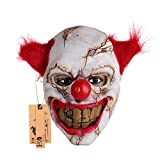 Hyaline Dora Halloween Latex Clown Mask With Hair for Adults (Small Image)