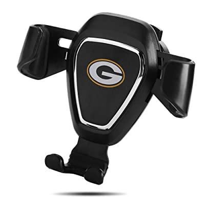 for Green Bay Packers Car Phone Mount Air Vent Cell Phone Holder for Car Compatible with iPhone, Google Pixel 3 XL, Samsung Galaxy S9+, and Other All Phones, Black (for Green Bay Packers): Automotive